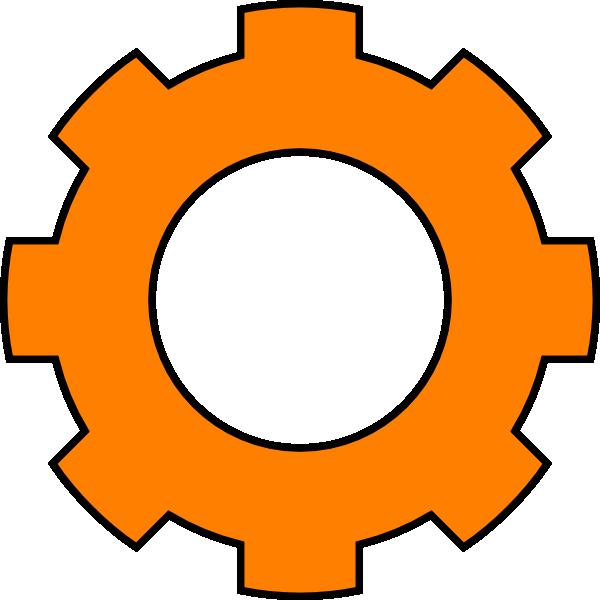 Orange clip art at. Gears clipart single gear