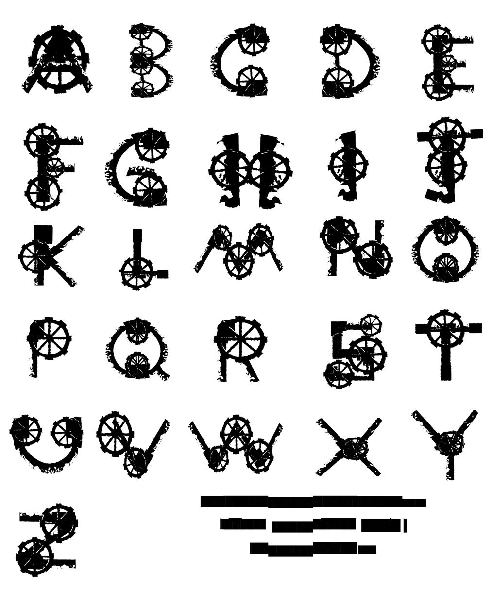 Gear clipart steampunk. Alphabet by gashu monsata