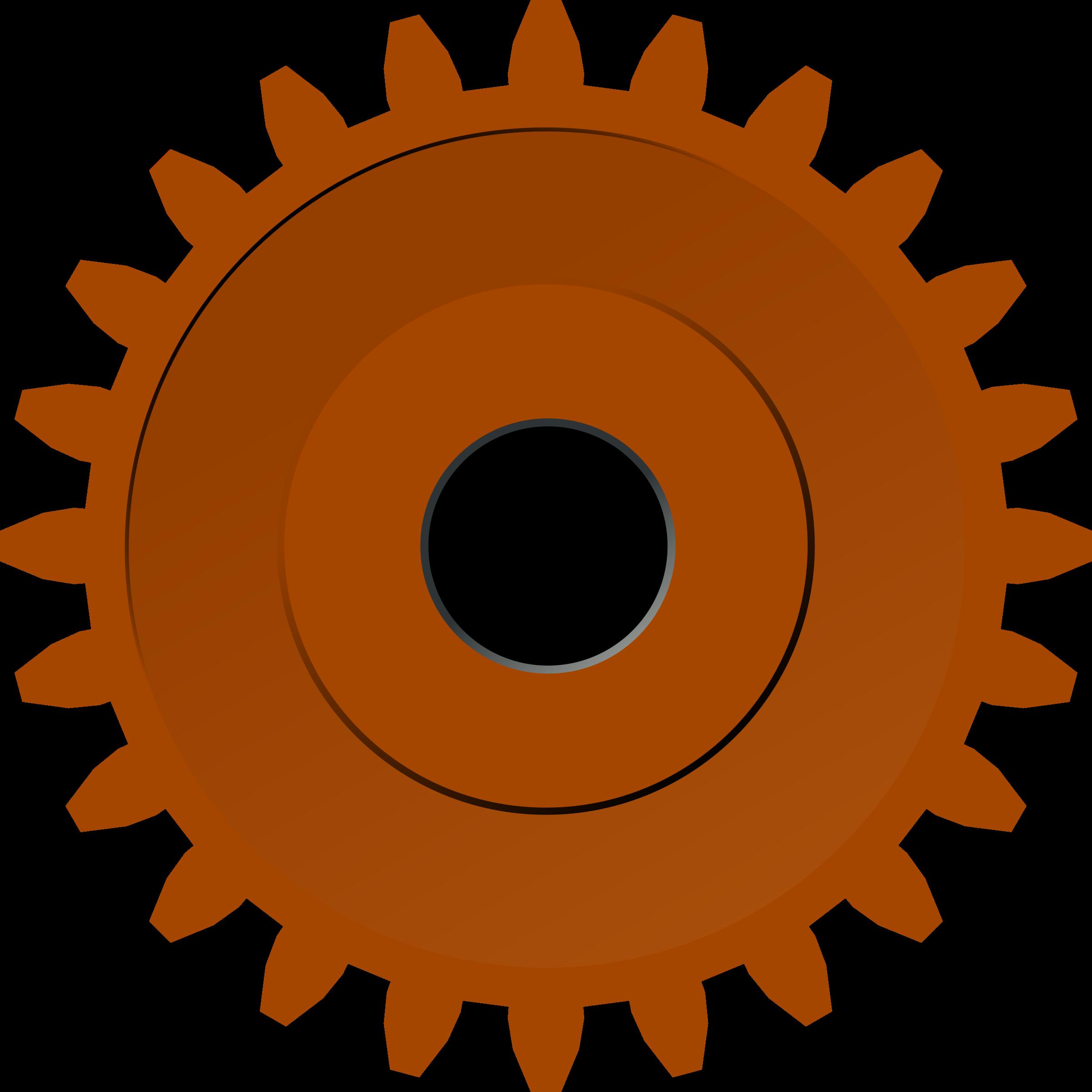 Steam gear big image. Gears clipart svg