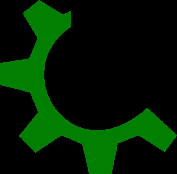 Gear clipart svg. Green multimedia clip art