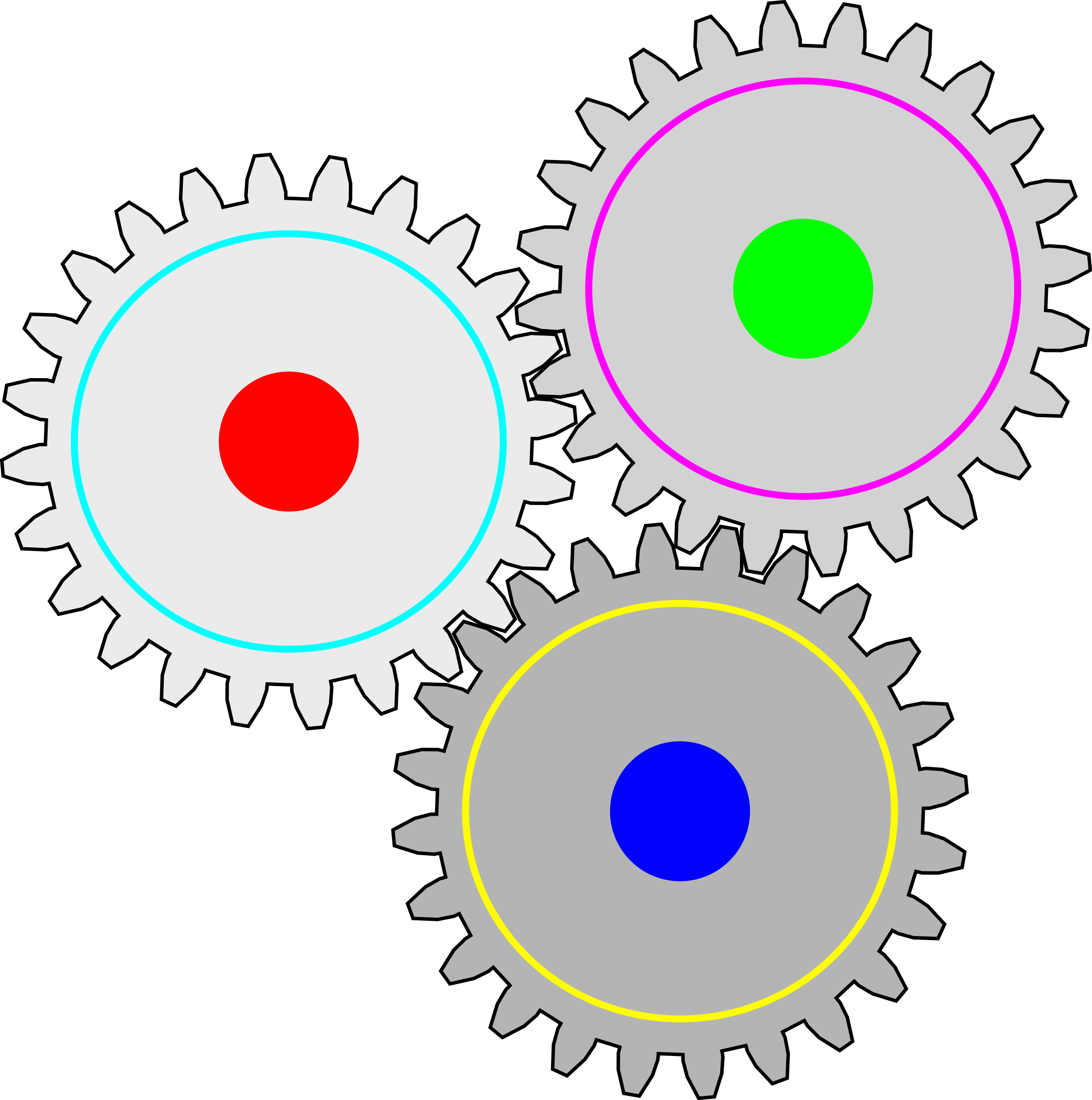 Impossible big image png. Gears clipart three