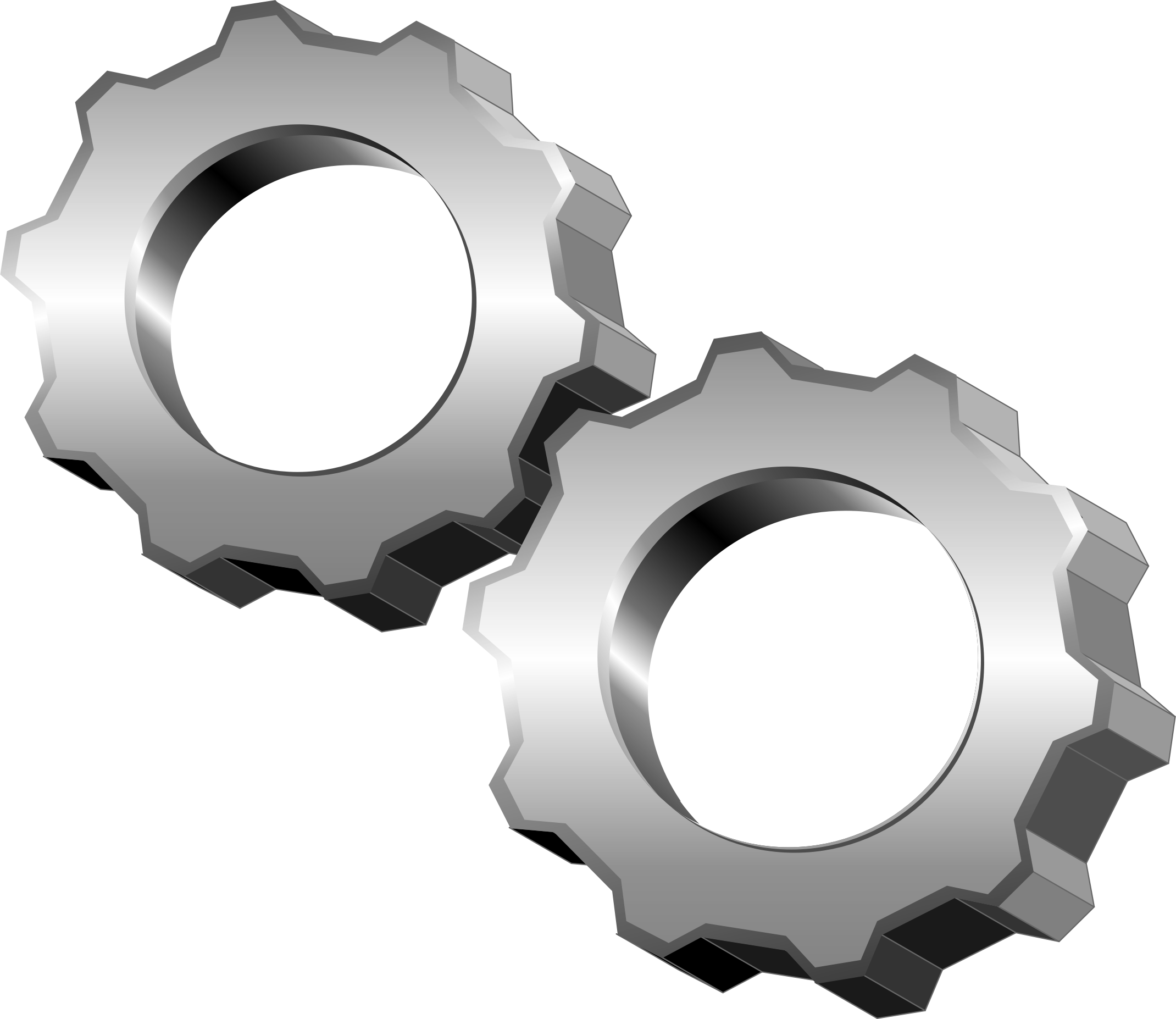 Big image png. Gears clipart linked