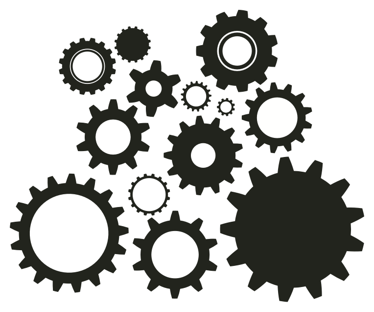 Gear clipart vector art. Clock gears time pencil
