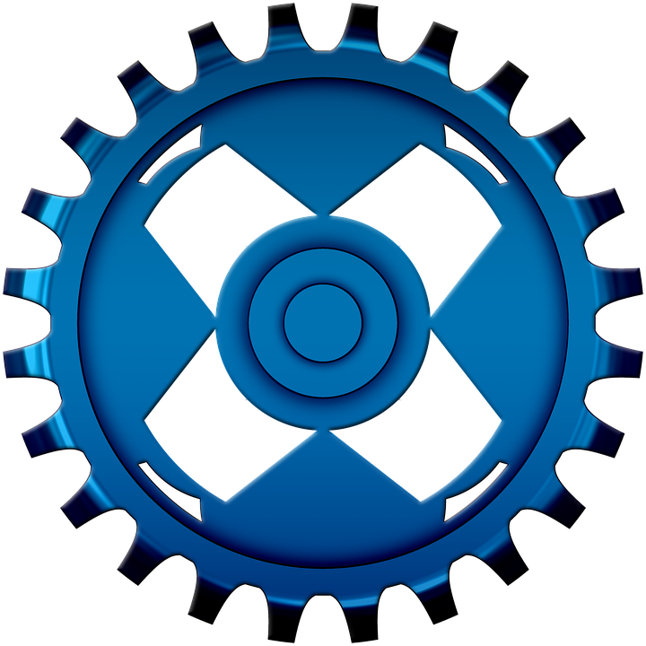 Gear clipart vector art. Gears mechanics flat icon