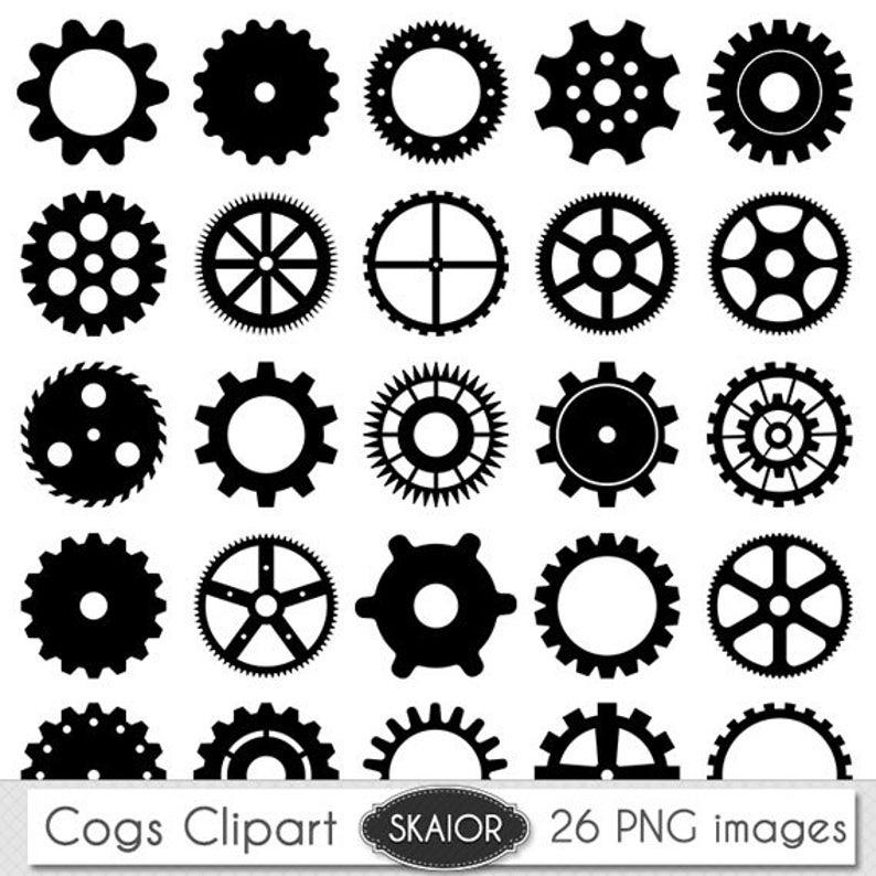 Gear clipart vector art. Cogs clip steampunk gears