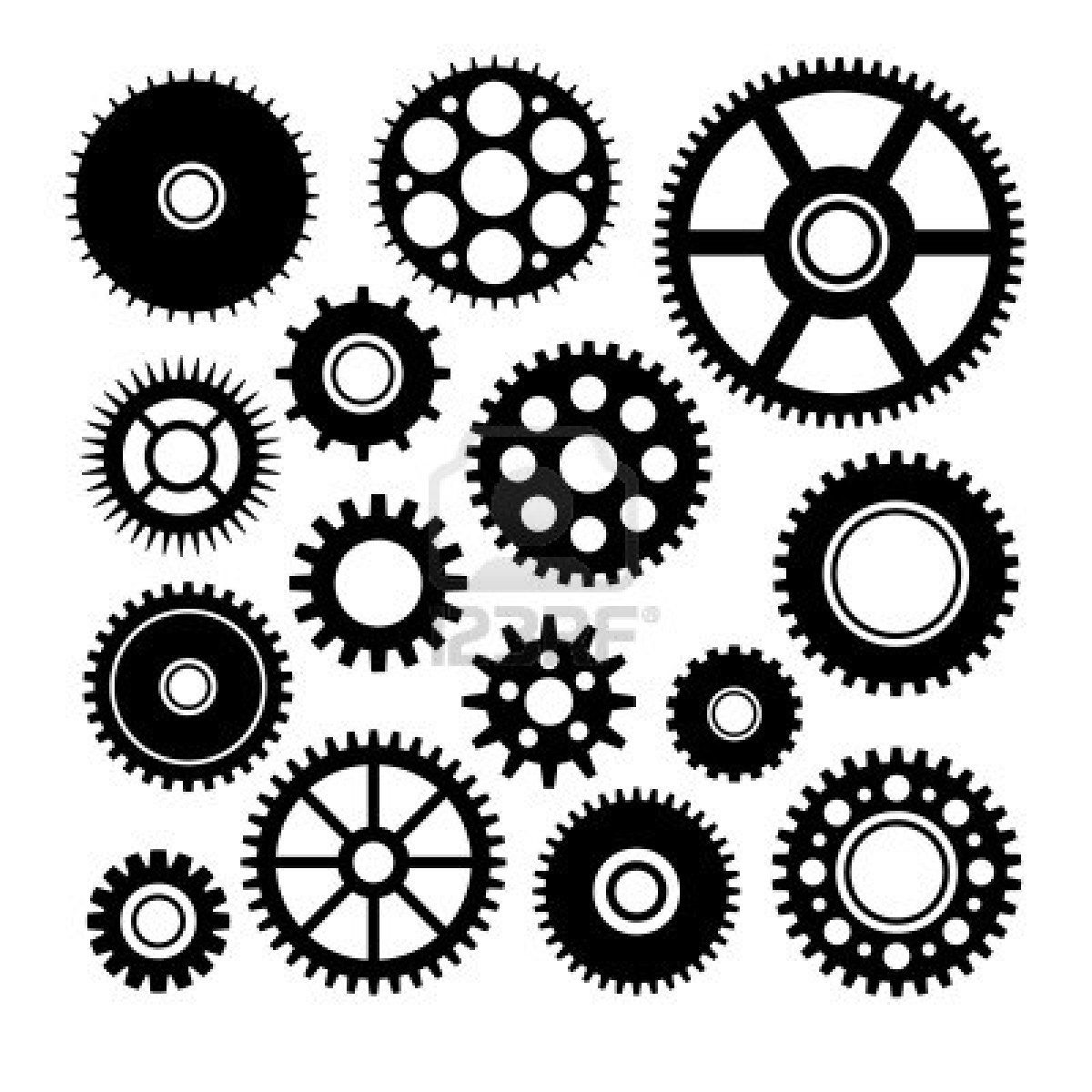 Stock clockwork drawing steampunk. Gear clipart vector art