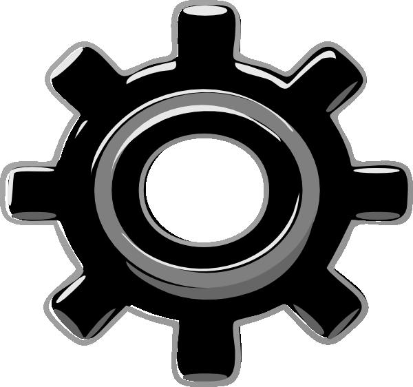Black cog clip art. Gears clipart wheel in motion