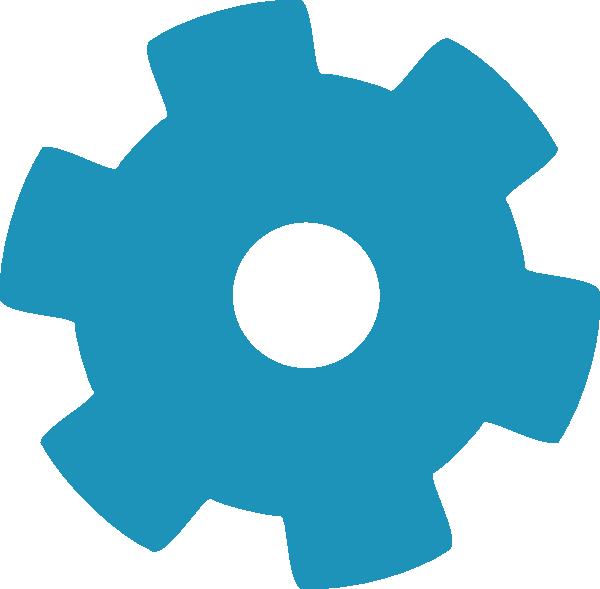 Gear clipart wheel in motion. Blue clip art at