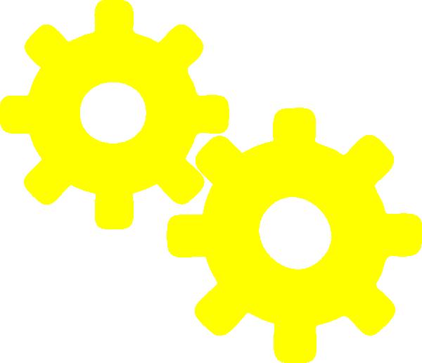Gears clipart car gear. Yellow clip art at