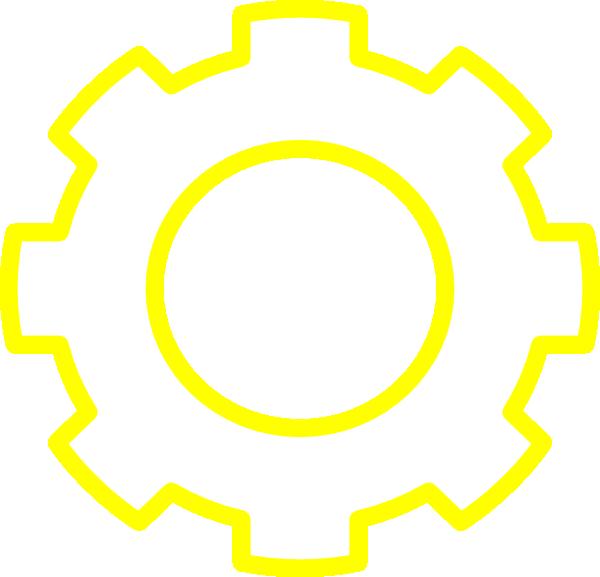 Gear clipart yellow gear. Clip art at clker