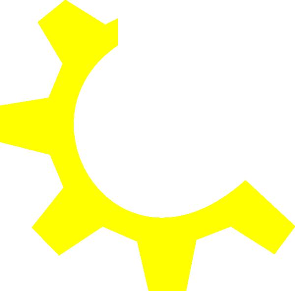 Multimedia clip art at. Gear clipart yellow gear