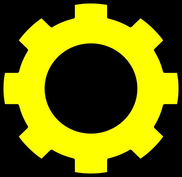 Gear yellow gear