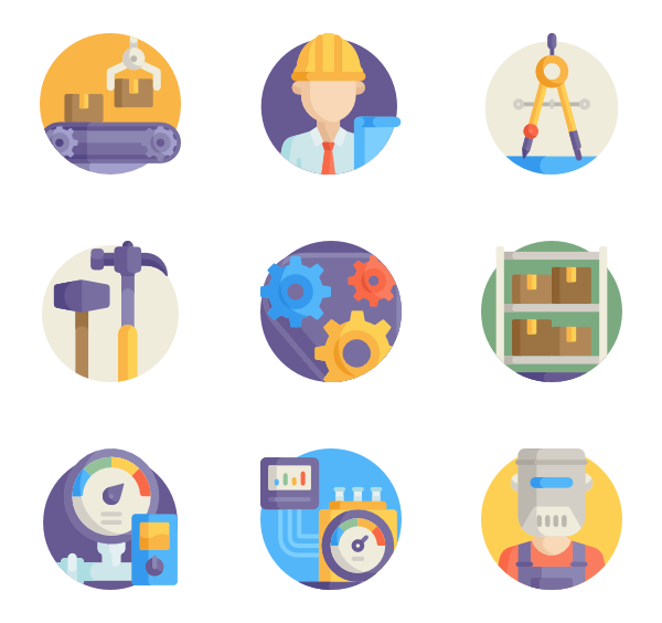 Icons free industrial process. Gear vector png