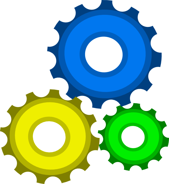 Gears invention convention theme. Gear clipart environment
