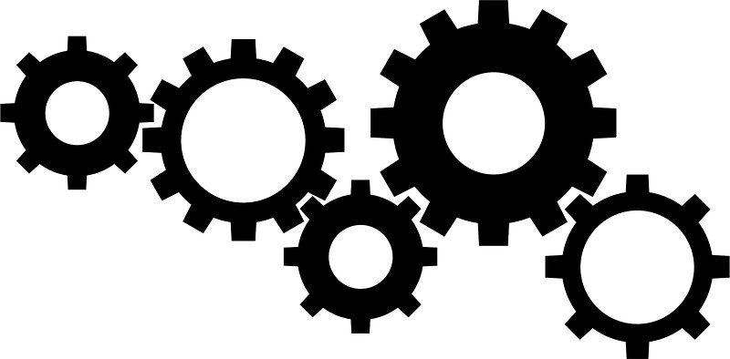 collection of gear. Gears clipart