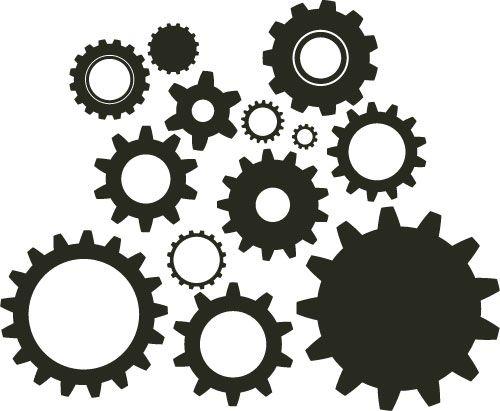 Gears diy steampunk cogs. Gear clipart illustrator