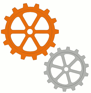 Clip art library . Gears clipart animated