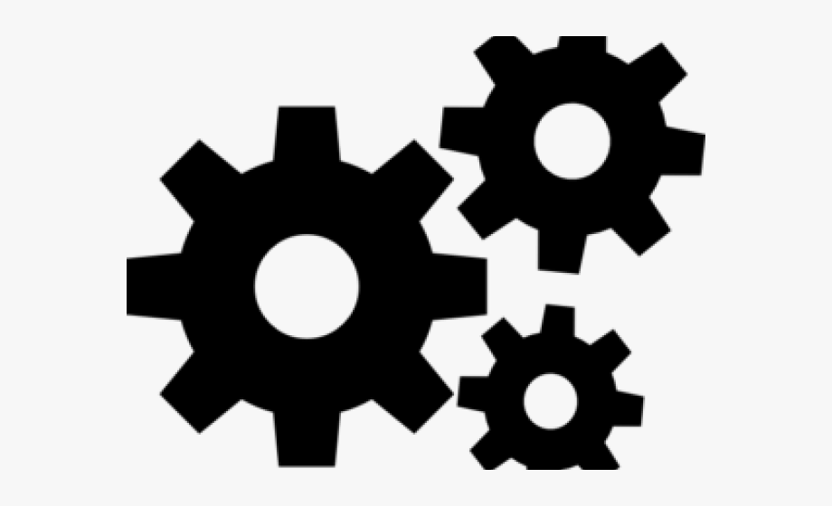 Gears clipart car gear. Settings black icon png