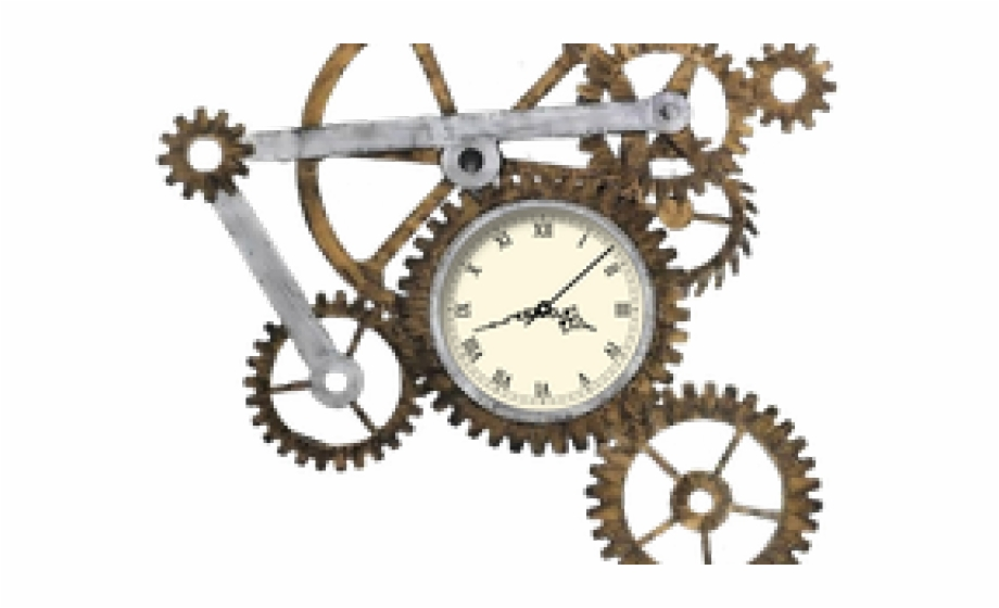 Transparent steampunk gear png. Gears clipart clock