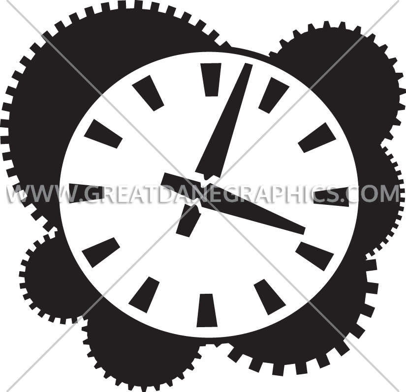 Gears clipart clock mechanism. Works production ready artwork