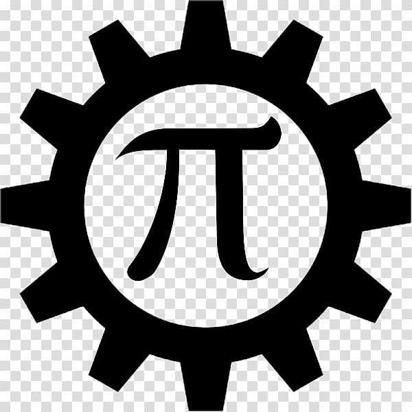 Pie with gear logo. Gears clipart engineering symbol