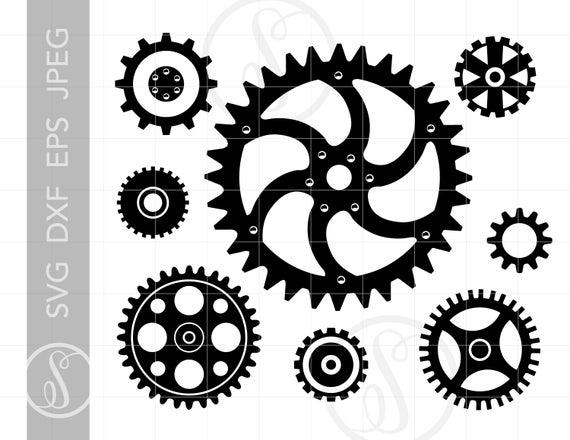Svg cut downloads steampunk. Gears clipart file