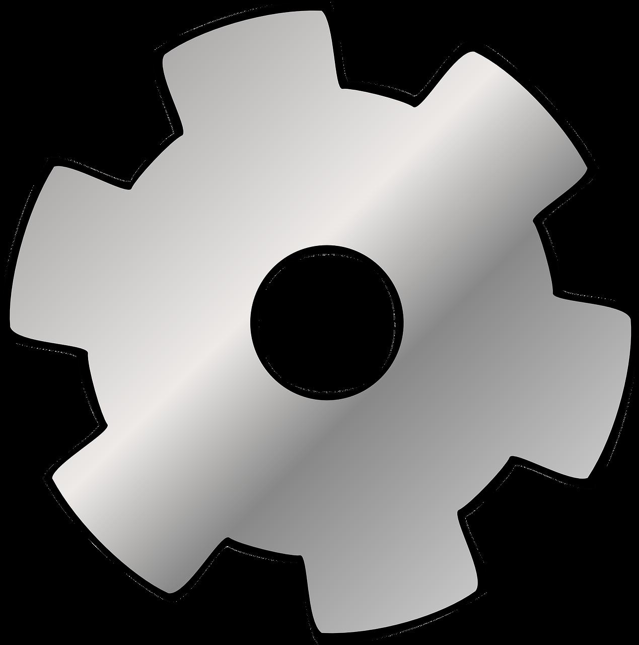Gears clipart gear shape. Cog wheel chrome transparent