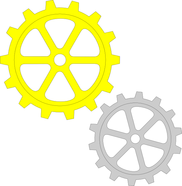 Gears clipart grey. Separate clip art at