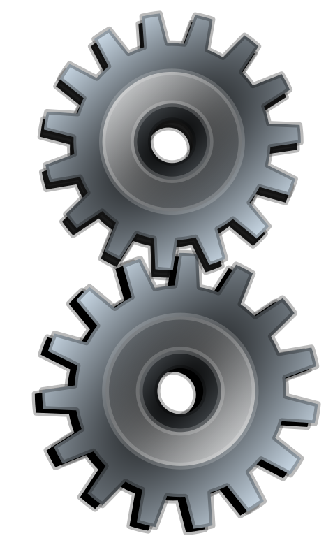 Gears clipart grey. Two gray medium image