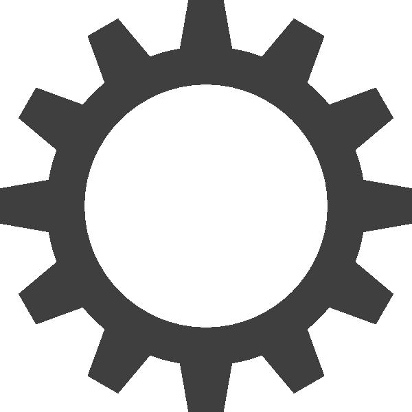Cogwheel large clip art. Gears clipart grey