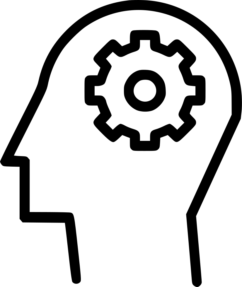 Gears clipart human mind. Man idea settings gear