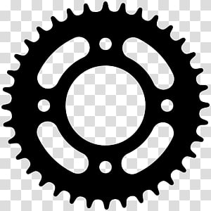 Logo sprocket freewheel bicycle. Gears clipart motorcycle gear