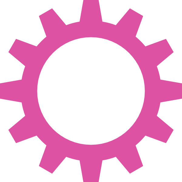 Cogwheel clip art at. Wheel clipart pink