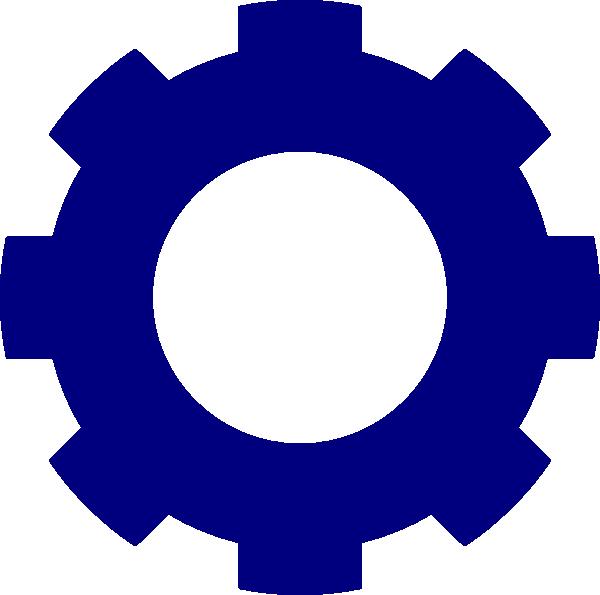 Dark blue cogwheel clip. Wheel clipart mechanical