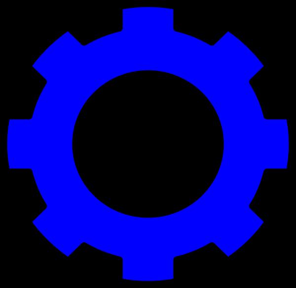 Blue clip art at. Gears clipart svg