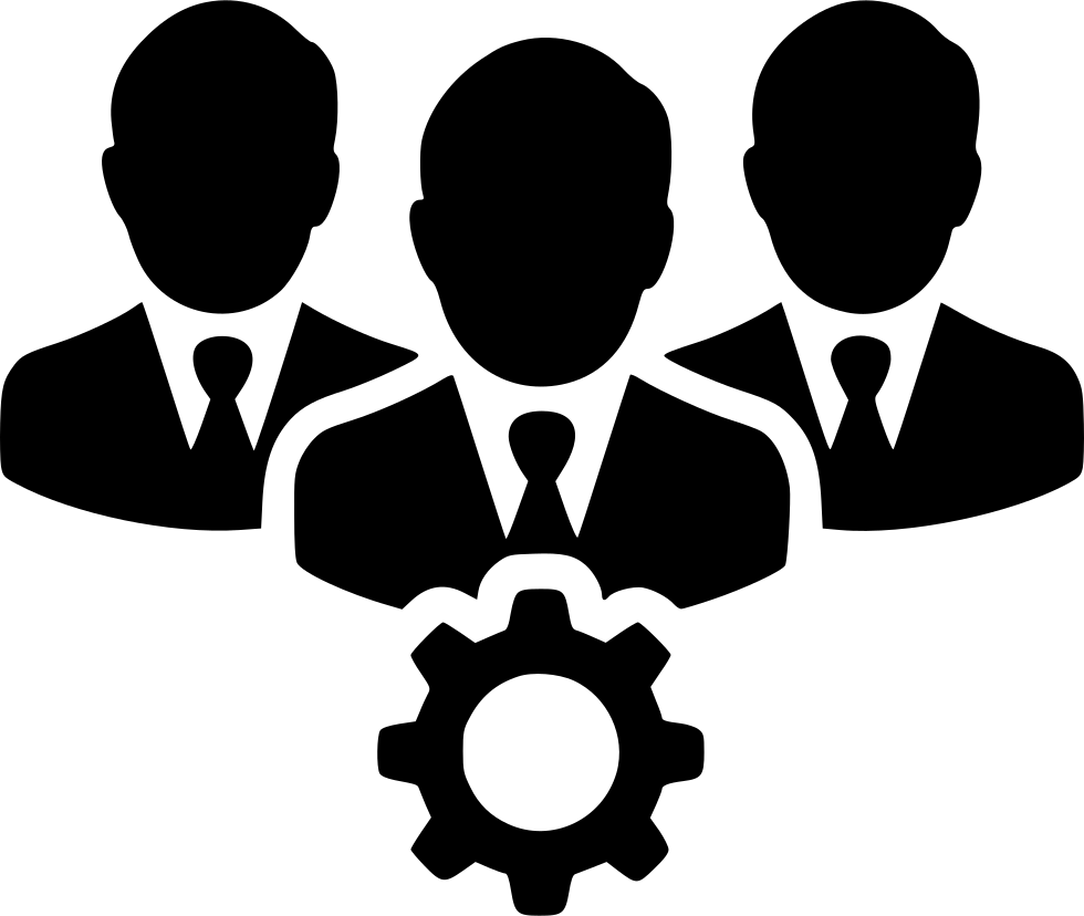 Teamwork clipart person connected. People users gear svg