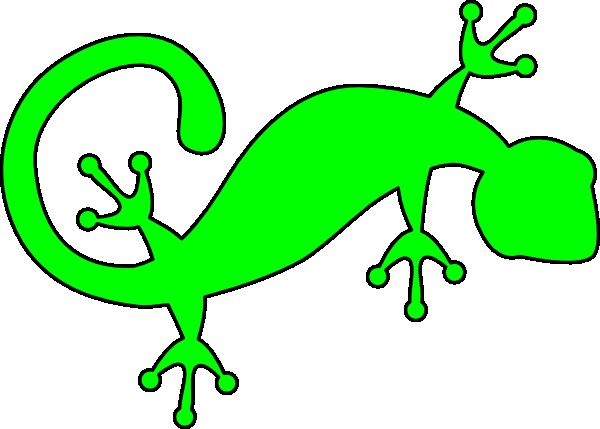 Gecko clipart. Bright green clip art