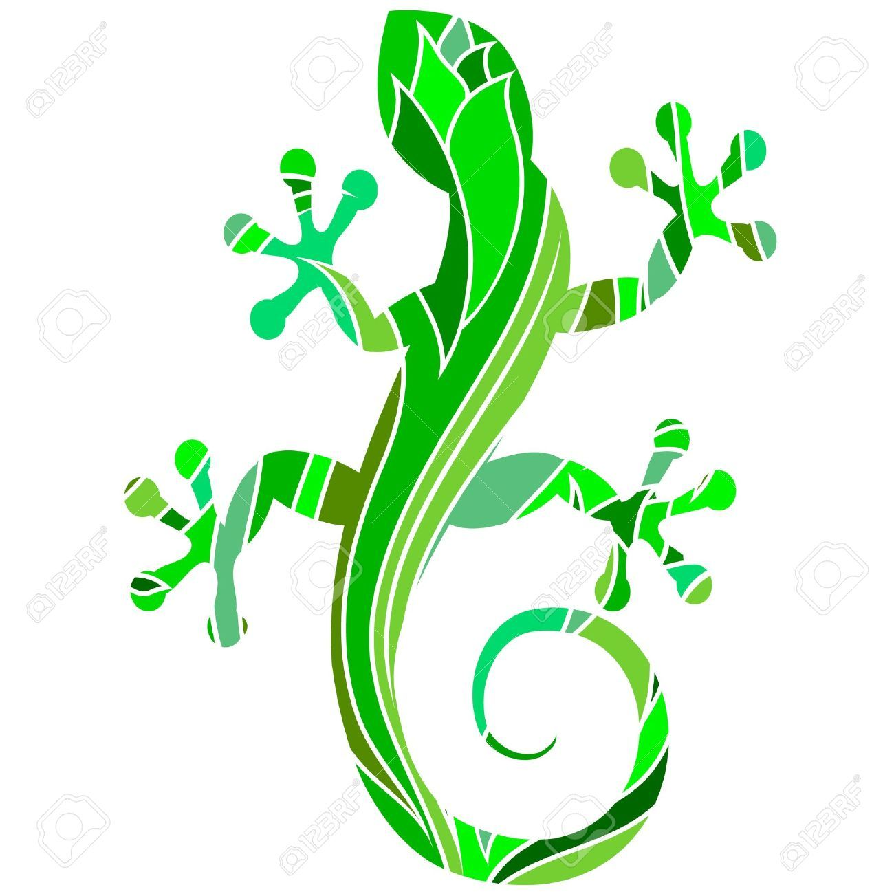 Stock vector illustration and. Gecko clipart