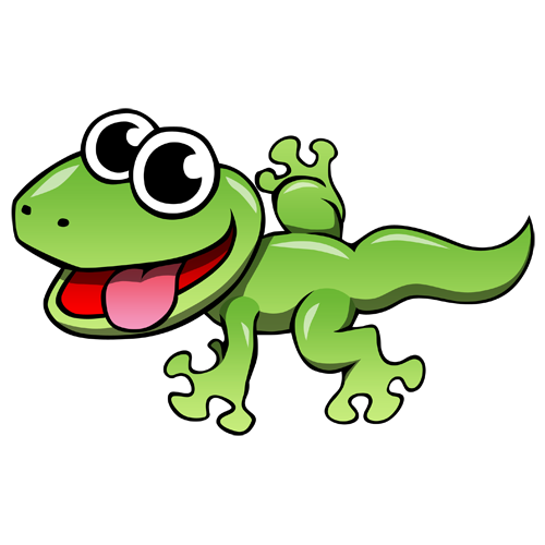 Gecko clipart. Cartoon lizard clip art