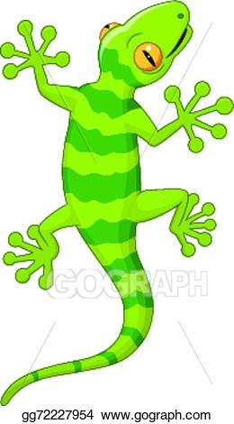 Vector art eps gg. Gecko clipart cartoon