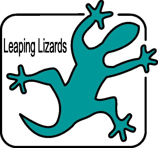 Leaping lizard clip art. Gecko clipart cartoon
