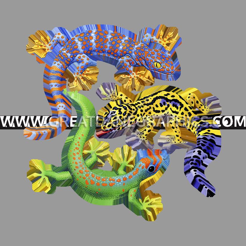 Gecko clipart easy. Three geckos production ready