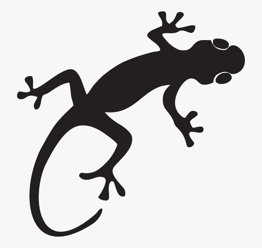 Gecko clipart easy. Silhouette lizard