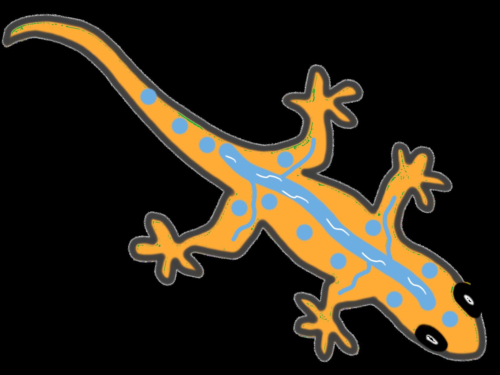 River ltd using greener. Gecko clipart easy