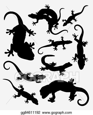 Eps illustration lizard reptile. Gecko clipart easy