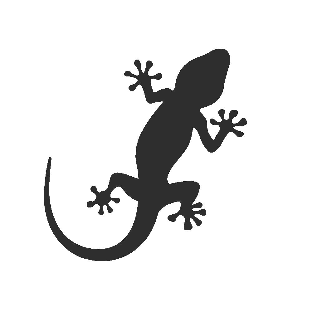 Gecko clipart footprint. Silhouette at getdrawings com