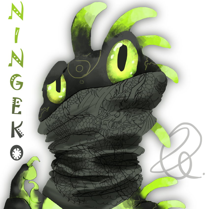 A ninja and too. Gecko clipart geko
