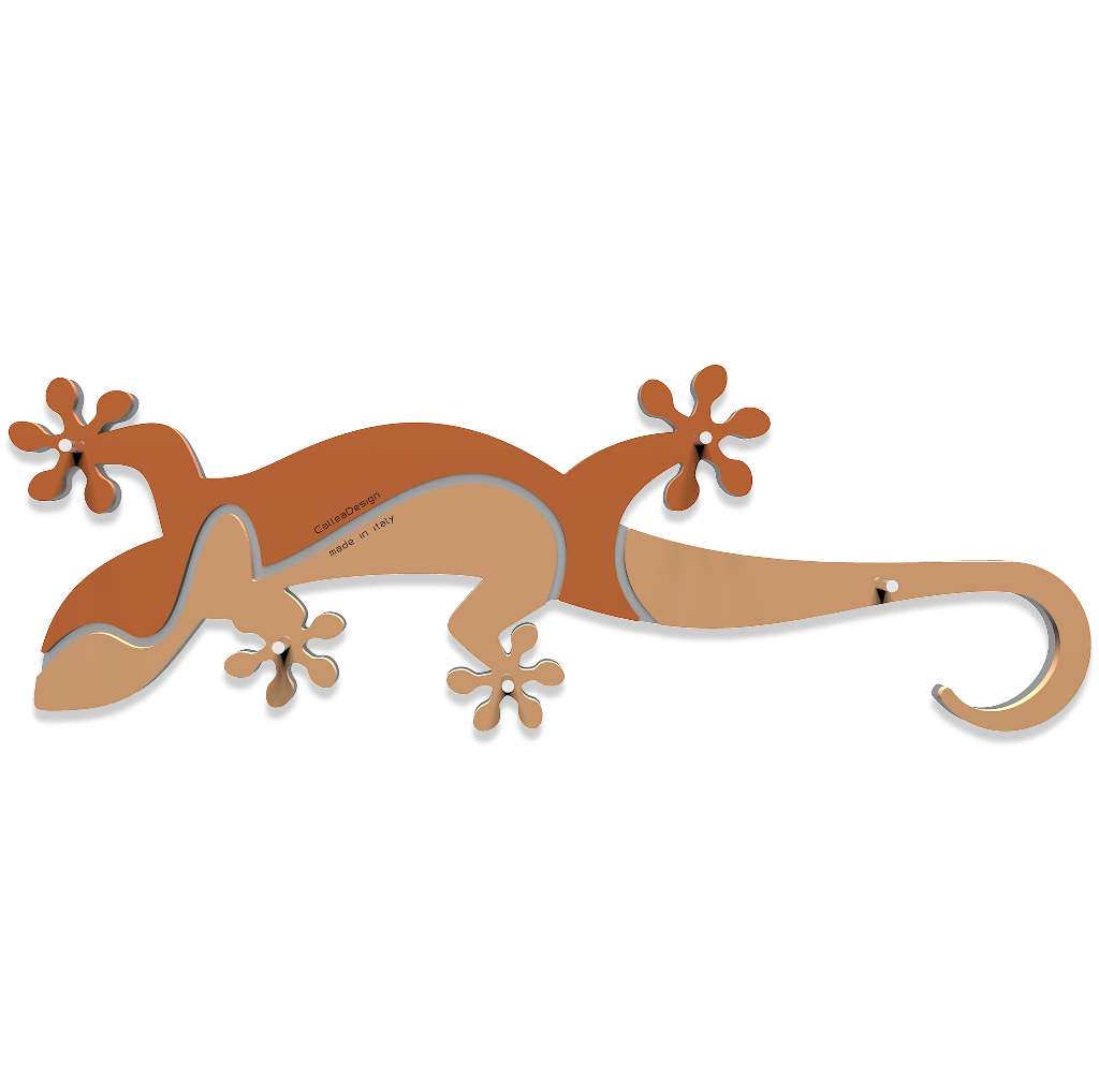 Gecko clipart geko. Wall key holder rack