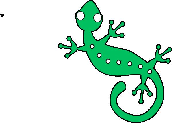 Gecko clipart green gecko. Clip art at clker