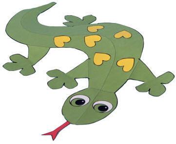 Gecko clipart kid. Paper craft